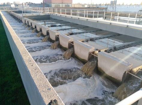 Tractament primari d'eliminació de partícules aplicat a la estació depuradora d'aigua residual del Prat del Llobregat