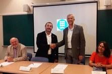 Jordi Boronat toma posesión del cargo de director del departamento ante el Rector de la UPC Francesc Torres