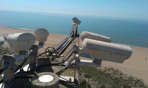 Nueva campaña de medidas en la playa de Castelldefels