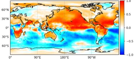 Mapa de variabilidad en el cambio climático
